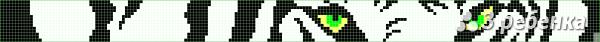 Схема фенечки прямым плетением 28261