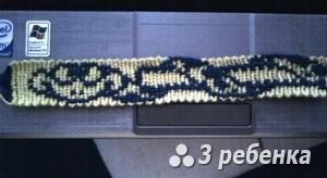Схема фенечки прямым плетением 28533