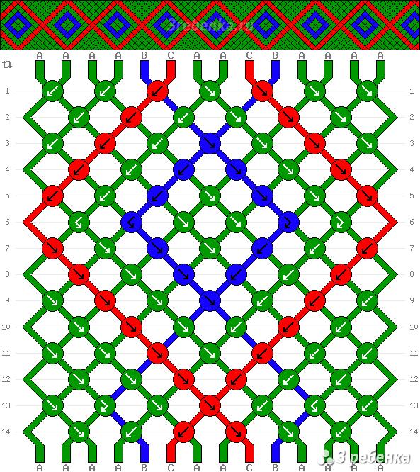 Схема фенечки 29842