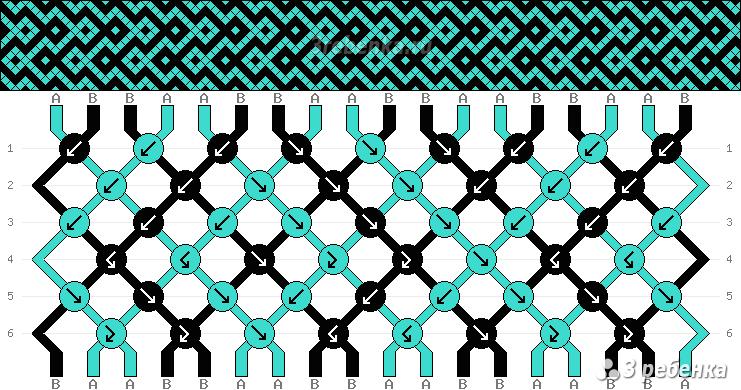 Гейзер схема плетения
