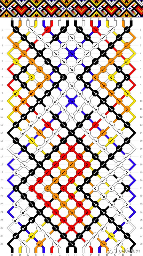 Схема фенечки 29892