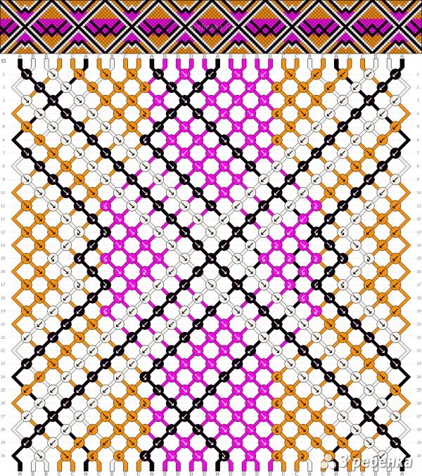 Схема фенечки 29896