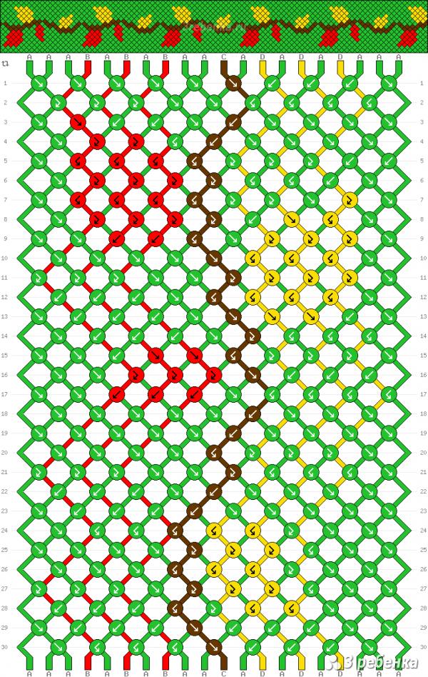Схема фенечки 30024
