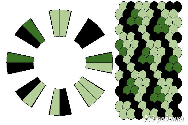 Схема фенечки кумихимо 29813