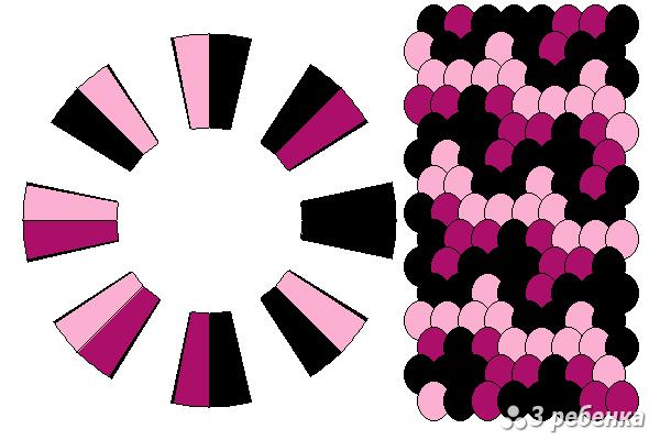Схема фенечки кумихимо 29809