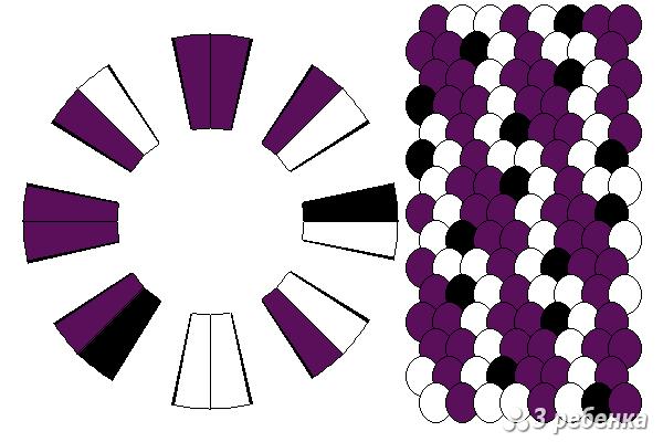 Схема фенечки кумихимо 29805