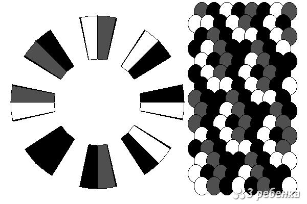 Схема фенечки кумихимо 29797