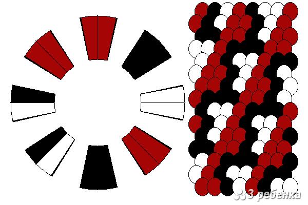 Схема фенечки кумихимо 29793