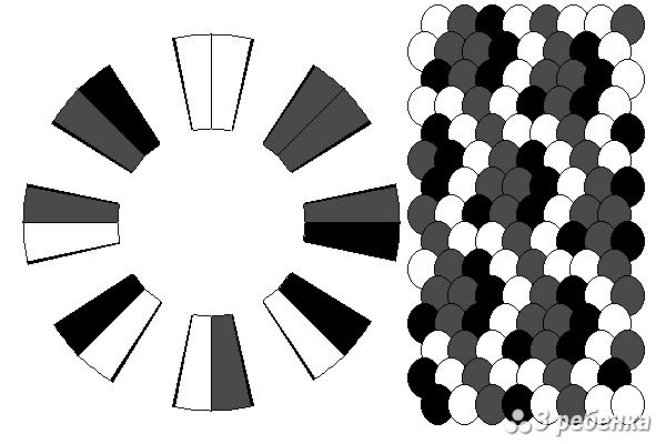 Схема фенечки кумихимо 29789
