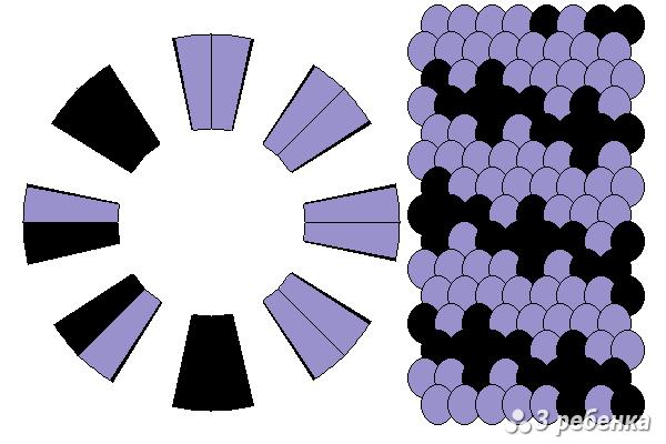 Схема фенечки кумихимо 29781