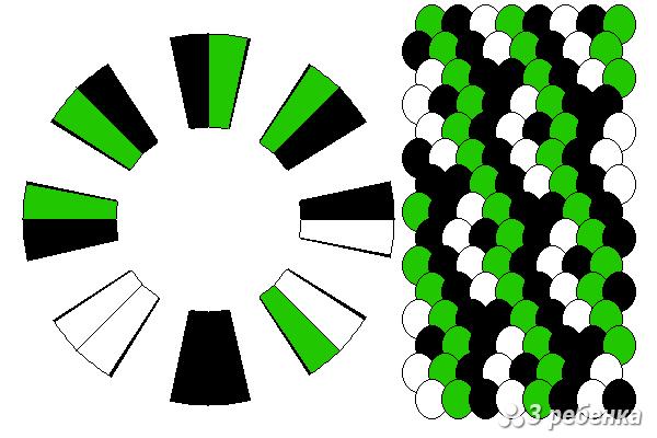 Схема фенечки кумихимо 29772