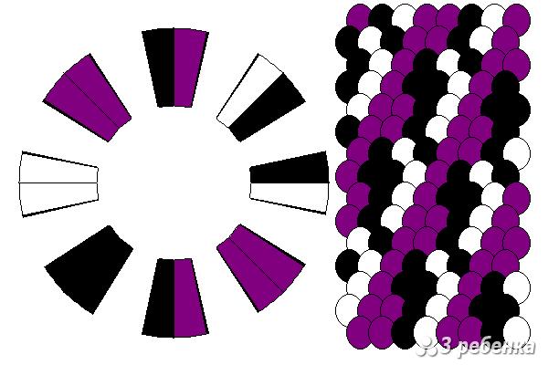 Схема фенечки кумихимо 29764
