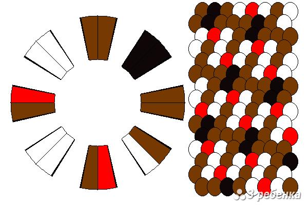 Схема фенечки кумихимо 29760