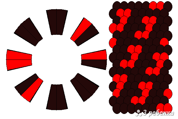 Схема фенечки кумихимо 29735