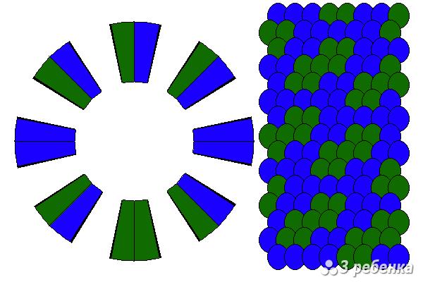 Схема фенечки кумихимо 29756