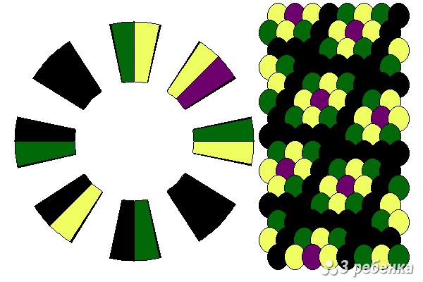 Схема фенечки кумихимо 29752