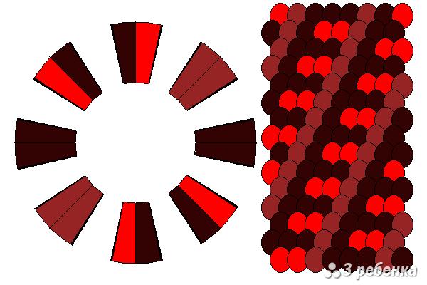 Схема фенечки кумихимо 29731