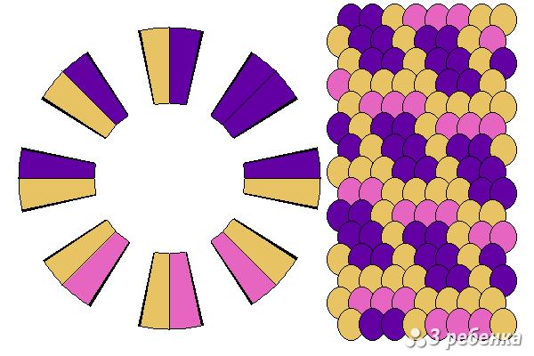 Схема фенечки кумихимо 29744