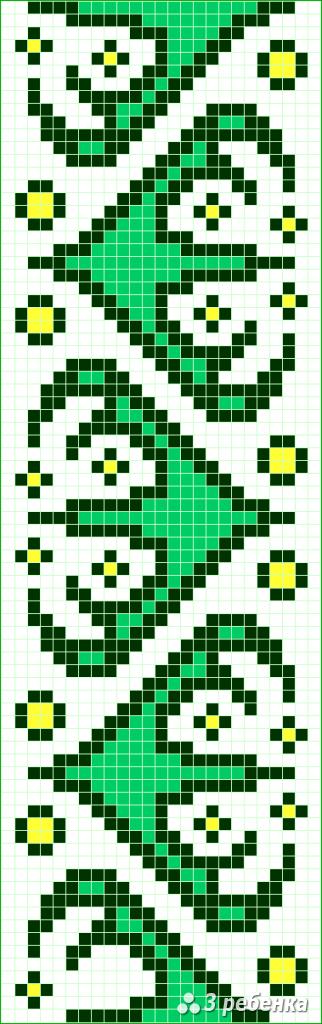 Схема фенечки прямым плетением 28789