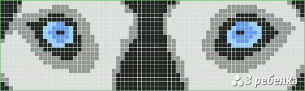 Схема фенечки прямым плетением 28848