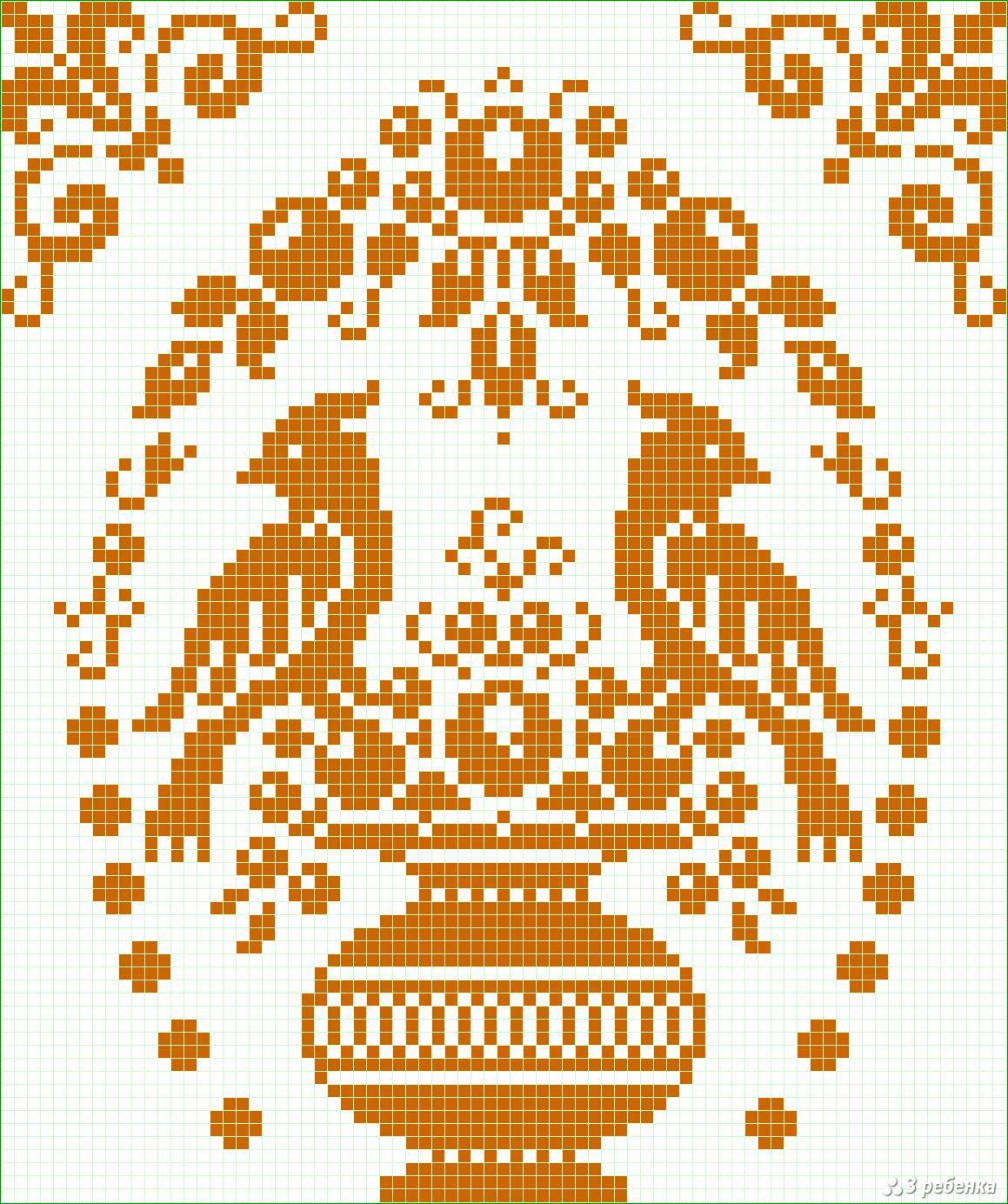Прямое плетение схема солнца