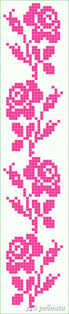 Схема фенечки прямым плетением 28548