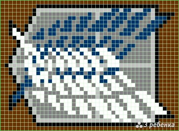 Схема фенечки прямым плетением 28796