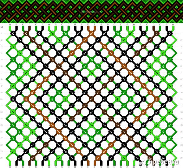 Схема фенечки 31931