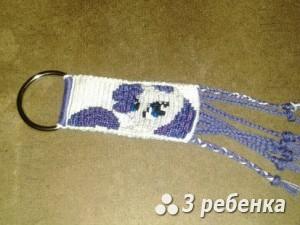 Схема фенечки прямым плетением 30385