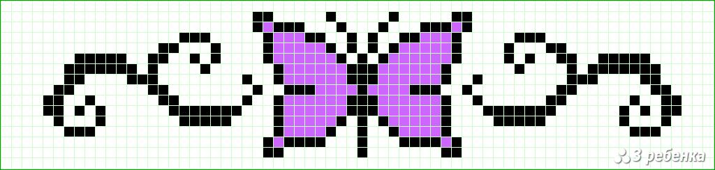 Схемы фенечек прямым плетением