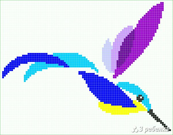 Схема фенечки прямым плетением 30175