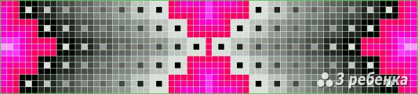 Схема фенечки прямым плетением 30143