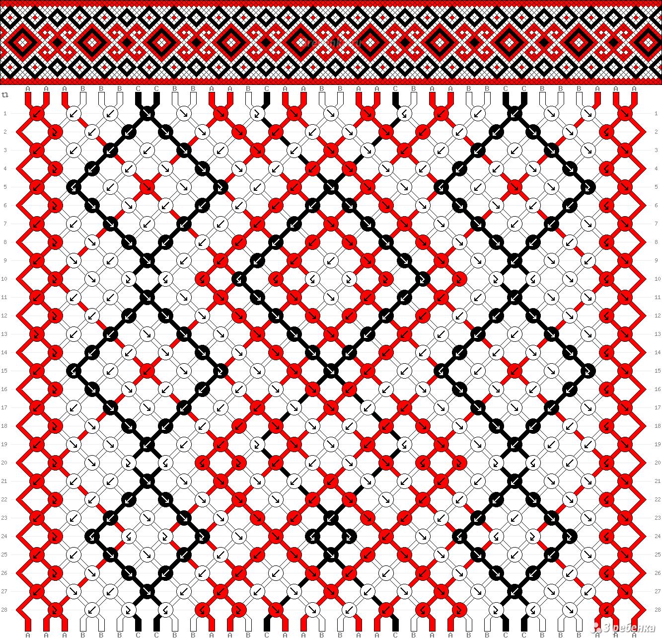 Схемы для фенечки елочки