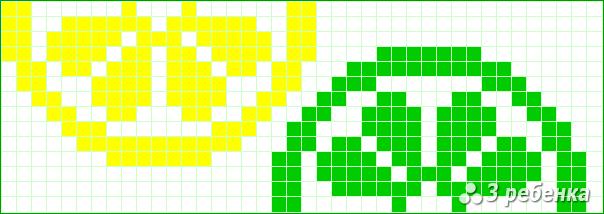 Схемы для фенечек прямого плетения в 2 цвета