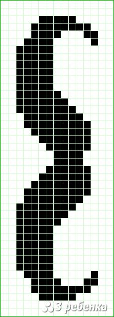 Схема фенечки прямым плетением 30873