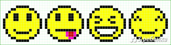 Схема фенечки прямым плетением 30889