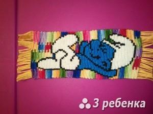 Схема фенечки прямым плетением 31046