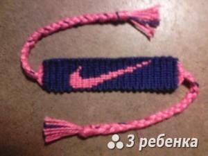 Схема фенечки прямым плетением 31265