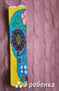 Схема фенечки прямым плетением 31239