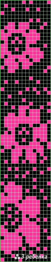 Схема фенечки прямым плетением 31095