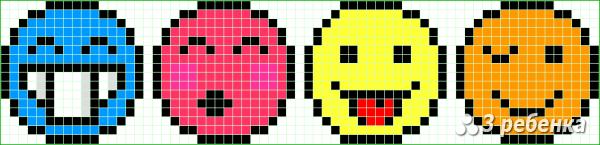 Схема фенечки прямым плетением 31170