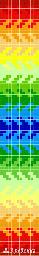 Схема фенечки прямым плетением 31147