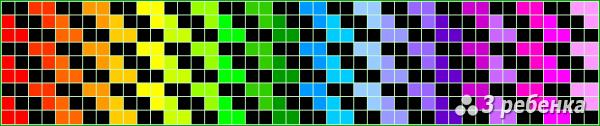 Схема фенечки прямым плетением 31286