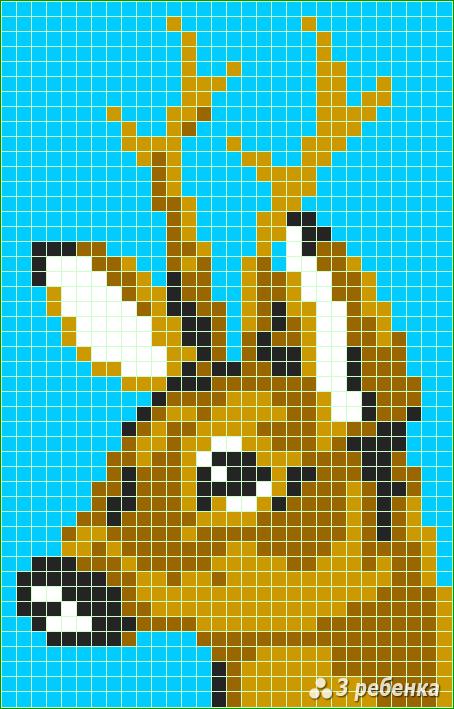 Схема фенечки прямым плетением 31259