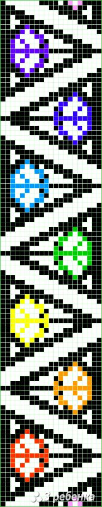 Схема фенечки прямым плетением 31227