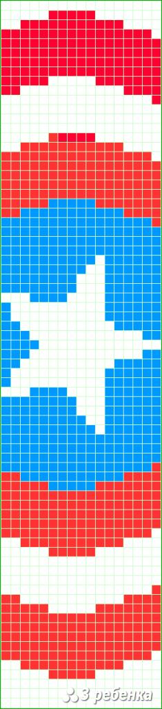 Схема фенечки прямым плетением 31245