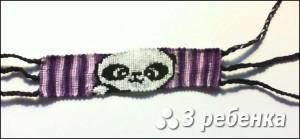 Схема фенечки прямым плетением 31486