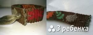 Схема фенечки прямым плетением 31671