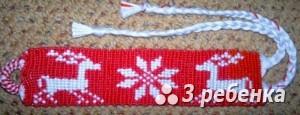 Схема фенечки прямым плетением 31461