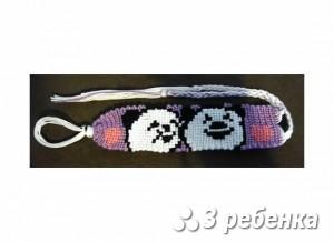 Схема фенечки прямым плетением 31394